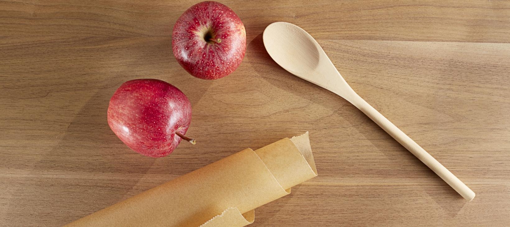 Apfelringe und Apfelchips Material