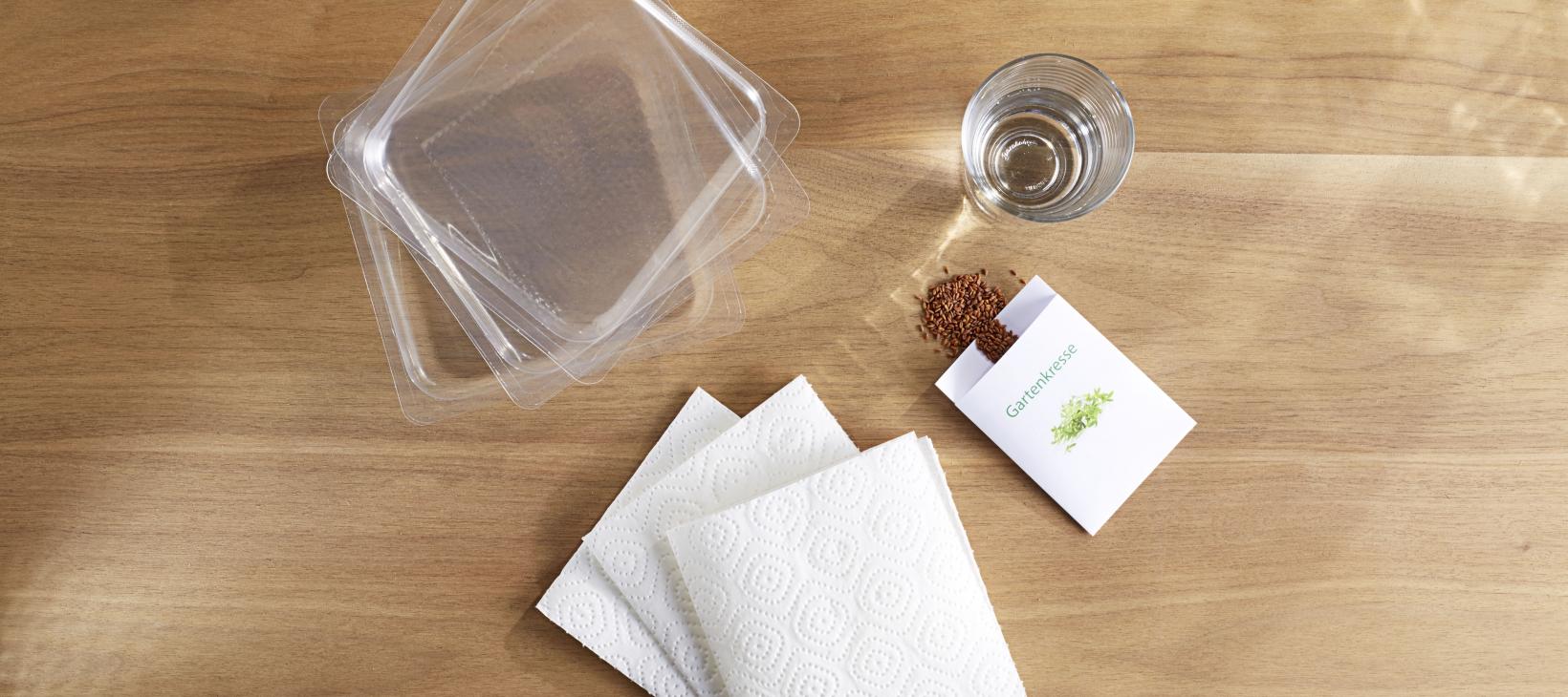 Material Kresse-Tipp: Verpackungen